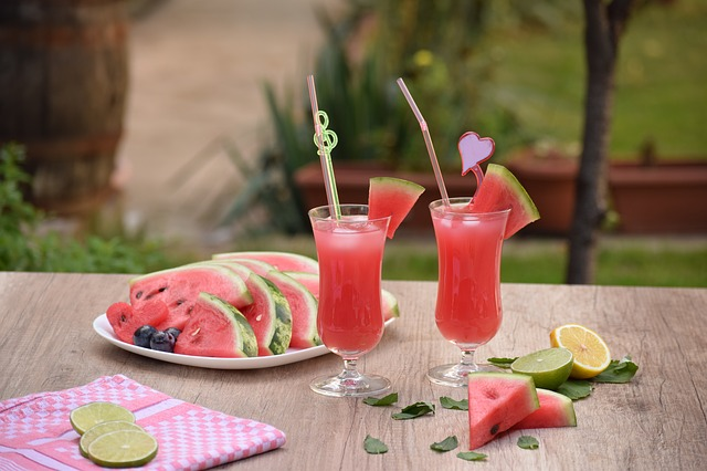 melounový nápoj