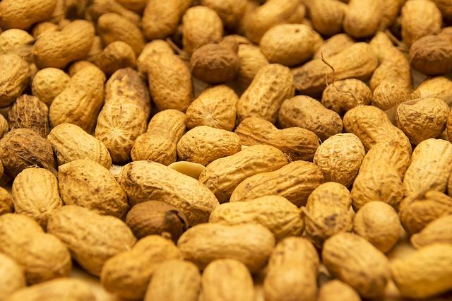 ořechy arašídy