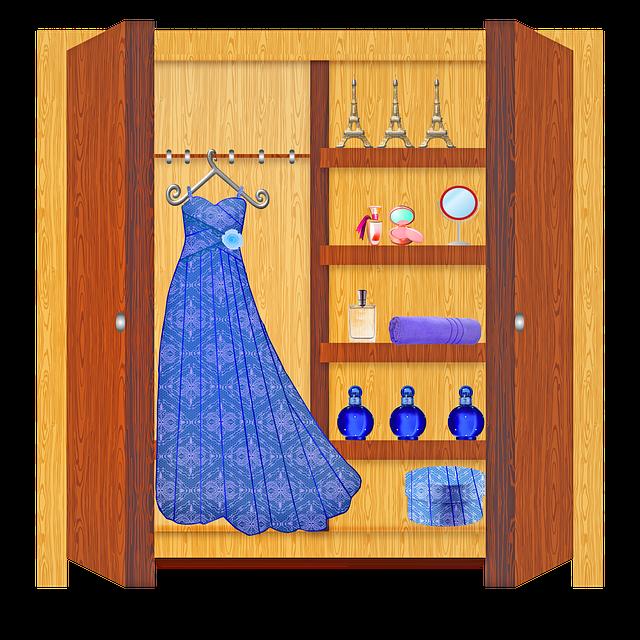 Skříň vhodná do menší bytů